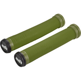 ODI Longneck SLX Flangeless BMX Grips, olive